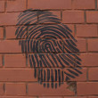 "Stock Photo: Graffiti ""Fingerprint"" on brick wall"