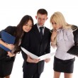 The business team look in the folder — Stock Photo #5843932