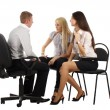 The business team on the chairs — Stock Photo
