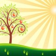 Tree and sun — Stock Vector #5855316