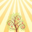 Fruit tree and the sun — Stock Vector #5862415