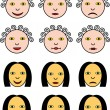 Постер, плакат: Smileys Faces Vector drawing