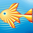 Royalty-Free Stock Vector Image: Solar fish in the sea 3