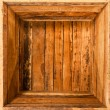 Inside wooden box — Stock Photo