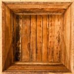 Inside wooden box — Stock Photo