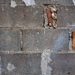 Gray brick block wall - Stock Photo