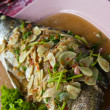 Stock Photo: Spicy steamed fish with lemon