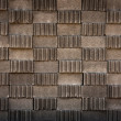 Gray brick block pattern — Stock Photo