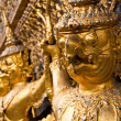 Golden Garuda face decoration in The temple of Emerald Buddha — Stock Photo