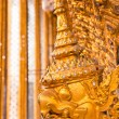 Stock Photo: Golden Garudface decoration in temple of Emerald Buddha