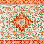 Flower pattern tile texture — Stock Photo