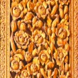 Stock Photo: Thai wooden carving door flower style