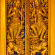Thai wooden carving door — Stock Photo #6379361