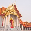 Stock Photo: Curch of Wat Benchamabopit tilted