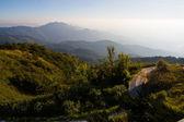 Névoa na montanha — Fotografia Stock