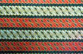 Textura de sarongue padrão tailandês grunge listrada — Foto Stock