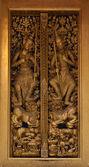 泰国木雕门 — 图库照片