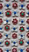Flower pattern wall — Stock Photo