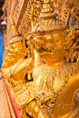 Golden Garuda decoration in The temple of Emerald Buddha — Stock Photo
