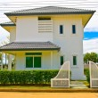 Thai modern style house from front — Stock Photo