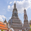 Stock Photo: Overall white pagodas of Wat Arun