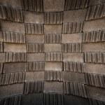 Gray brick block pattern blast out — Stock Photo