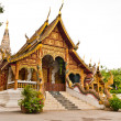 Thai northern style chuch of Wat chadi liam tilted — Stock Photo