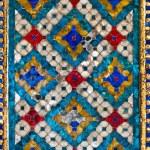 Thai pattern tile wall — Stock Photo
