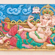 Reclining Ganesh concrete carving — Stock Photo