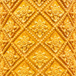 Golden Thai pattern pillar - Stock Photo