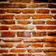 Very dirty brick wall vertical high contrast — Stock Photo