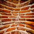 Very dirty brick wall vertical blast out high contrast — Stock Photo