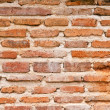 Very dirty brick wall vertical — Stock Photo
