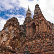 Ruin pagodas in sukhothai tilted left — Stock Photo #6385981