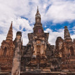 Royalty-Free Stock Photo: Ruin pagodas in sukhothai far front