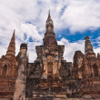 Stock Photo: Ruin pagodas in sukhothai front overall