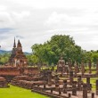 Overall of wat Mahatat in sukhothai from top — Stock Photo