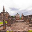 Overall of wat mahatat in sukhothai — Stock Photo