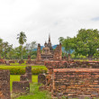 Overall of ruin temple in sukhothai — Stock Photo