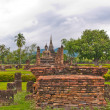 Overall of wat mahatat in sukhothai vertical — Stock Photo