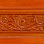 Thai style wooden craft — Stock Photo