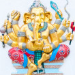 Golden eight hands ganesha — Stock Photo