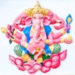 Pink ganesha sitting on lotus — Stock Photo #6388216