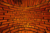 Old orange brick wall texture blast out — Stock Photo
