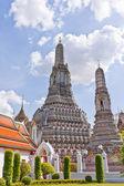 Overall white pagodas of Wat Arun — Stock Photo