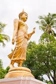 黄金の歩行の仏像 — ストック写真