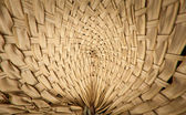 Thai wooden curve wicker pattern blast out — Stock Photo