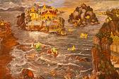 Oorlog in het water — Stockfoto