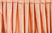 Orange fabric curtain — Stock Photo