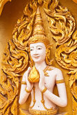 Angel decoration of buddhist temple tilted out — Stock Photo